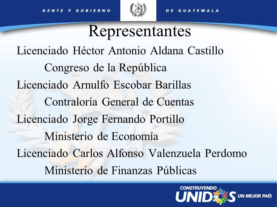 Representantes Licenciado Héctor Antonio Aldana Castillo