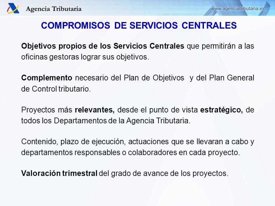 COMPROMISOS DE SERVICIOS CENTRALES