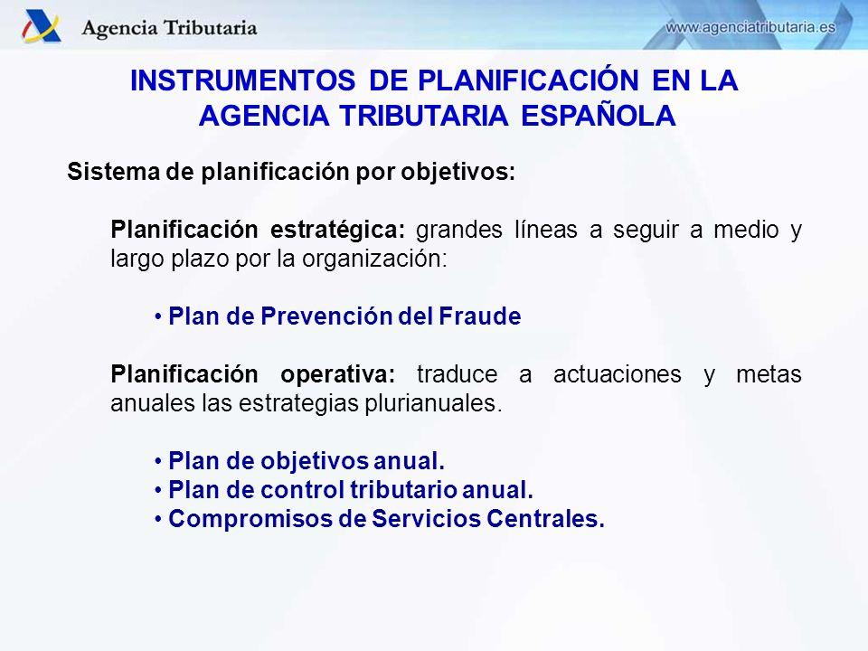 INSTRUMENTOS DE PLANIFICACIÓN EN LA AGENCIA TRIBUTARIA ESPAÑOLA