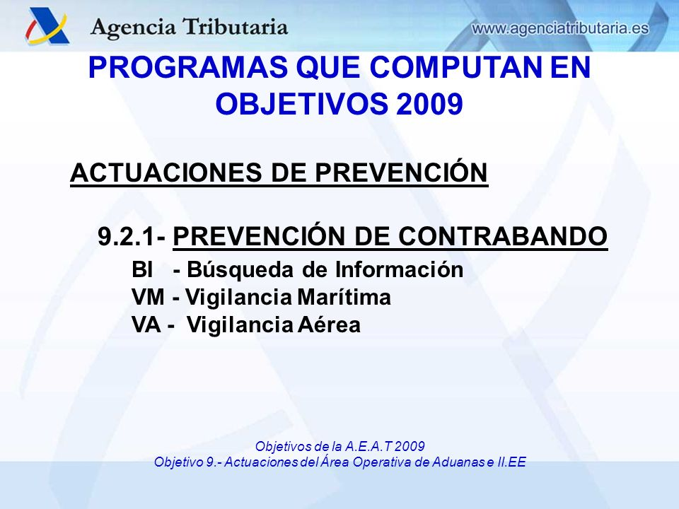 CONTROL DE OBJETIVOS DIRECCIÓN ADJUNTA DE VIGILANCIA ADUANERA