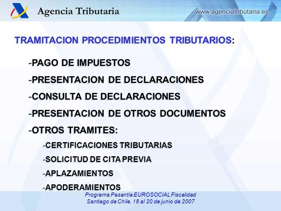 TRAMITACION PROCEDIMIENTOS TRIBUTARIOS: PAGO DE IMPUESTOS