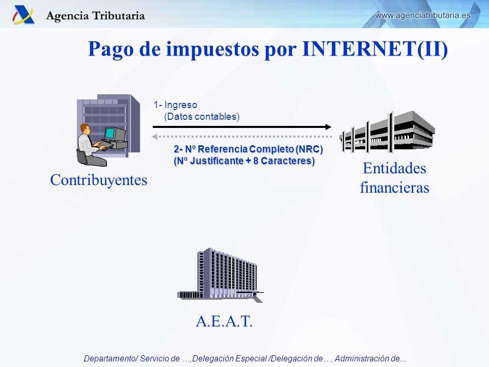 Pago de impuestos por INTERNET(II)