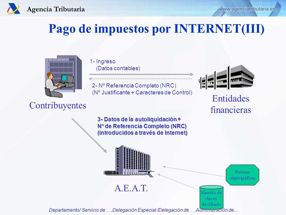 Pago de impuestos por INTERNET(III)
