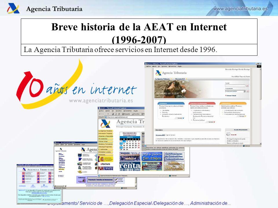 Breve historia de la AEAT en Internet (1996-2007)