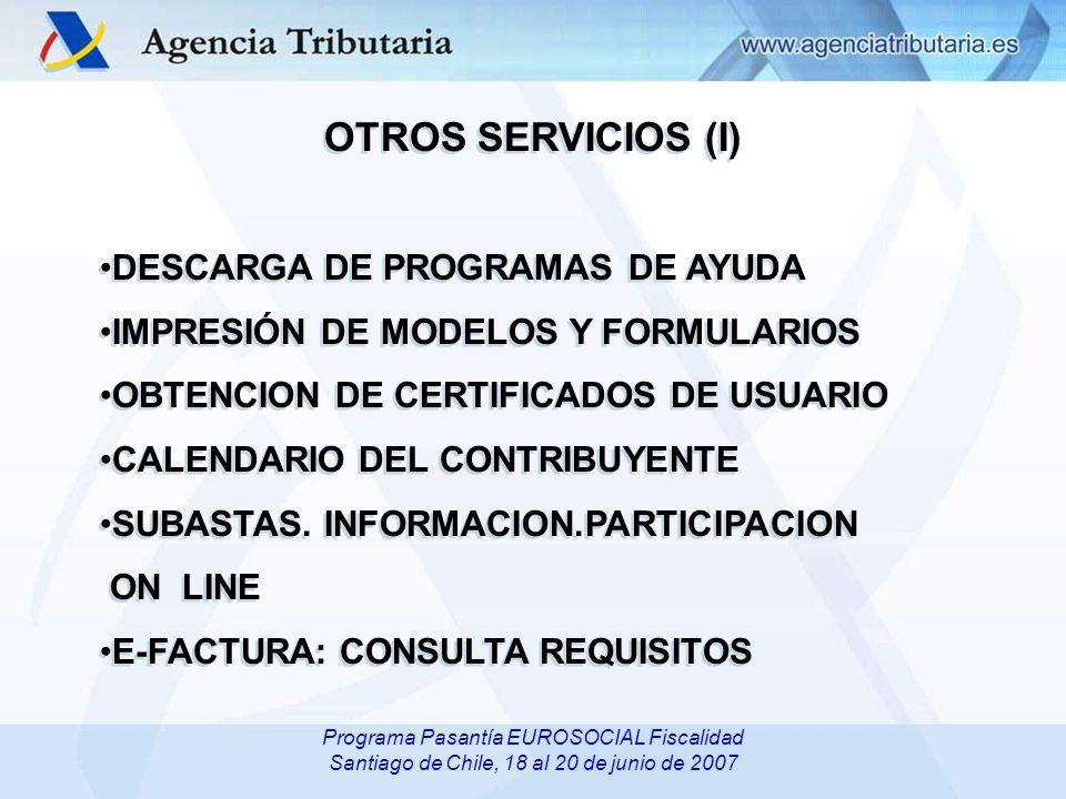 OTROS SERVICIOS (I) DESCARGA DE PROGRAMAS DE AYUDA