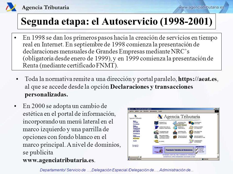 Segunda etapa: el Autoservicio (1998-2001)