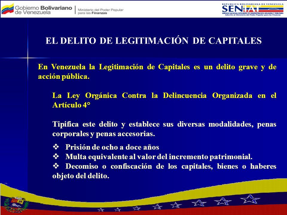 EL DELITO DE LEGITIMACIÓN DE CAPITALES