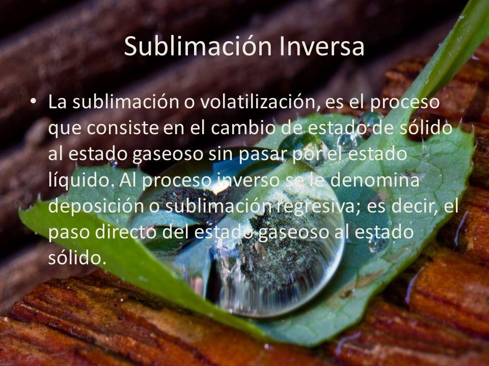 Sublimación Inversa