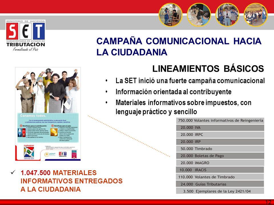 CAMPAÑA COMUNICACIONAL HACIA LA CIUDADANIA