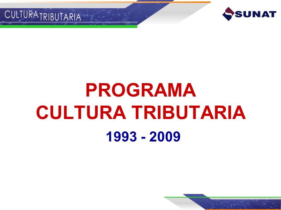 PROGRAMA CULTURA TRIBUTARIA 1993 - 2009