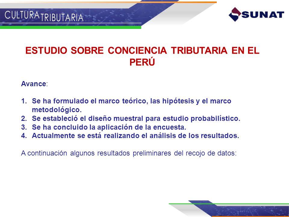 ESTUDIO SOBRE CONCIENCIA TRIBUTARIA EN EL PERÚ