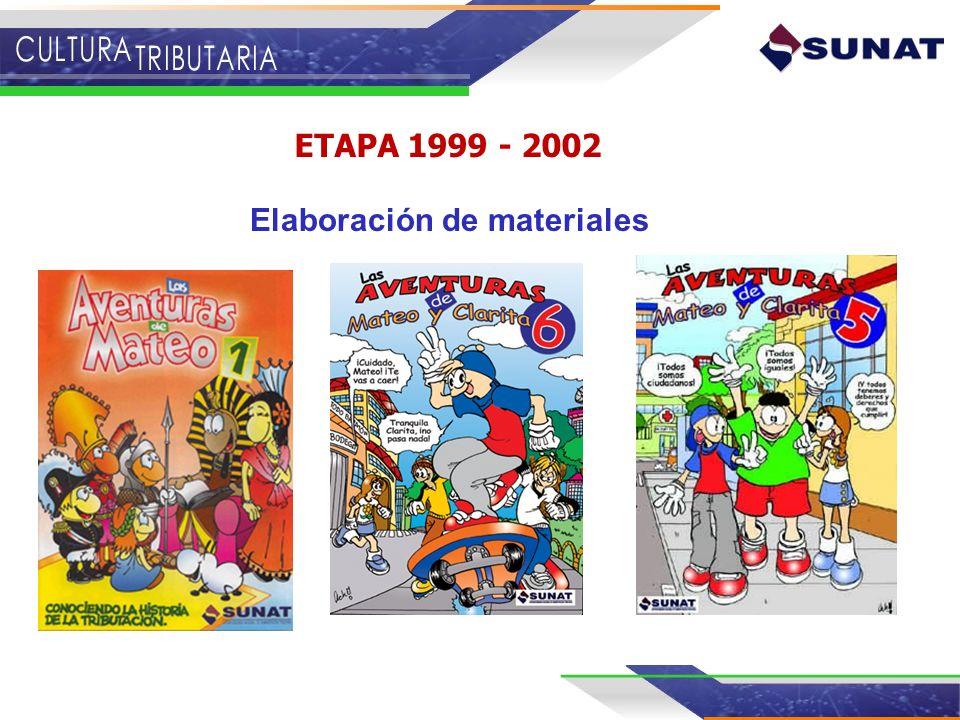 ETAPA 1999 - 2002 Elaboración de materiales