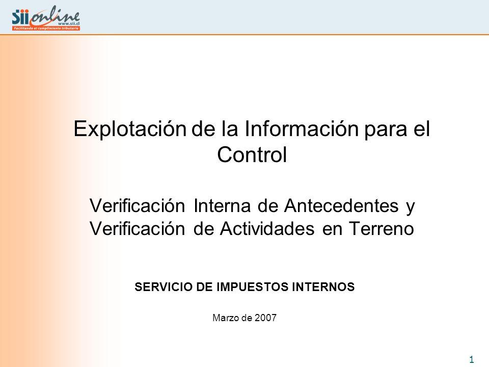SERVICIO DE IMPUESTOS INTERNOS Marzo de 2007