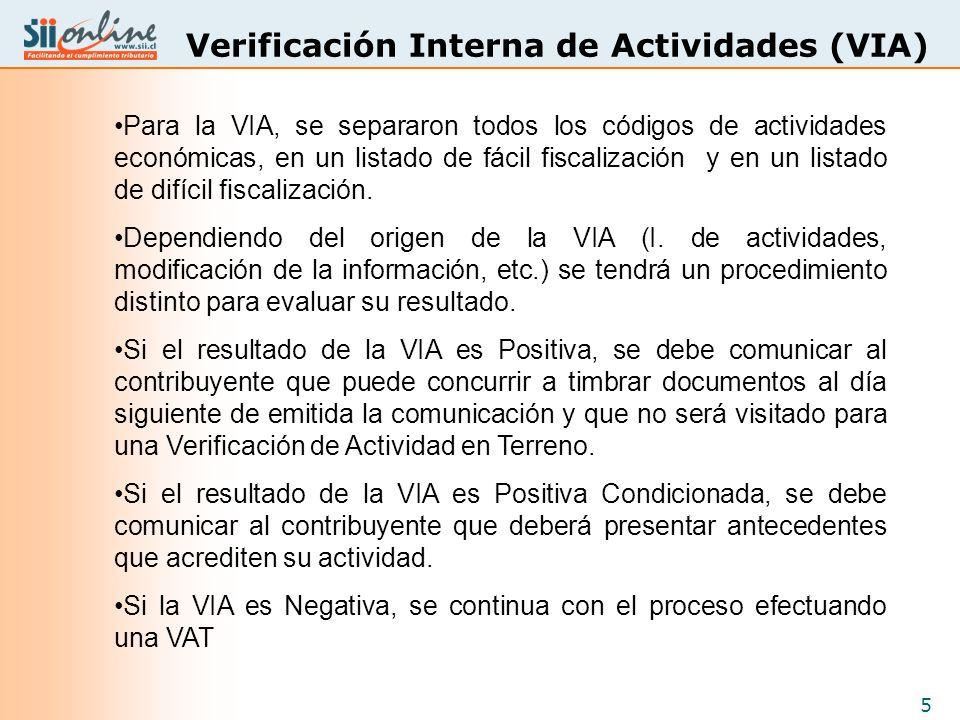 Verificación Interna de Actividades (VIA)