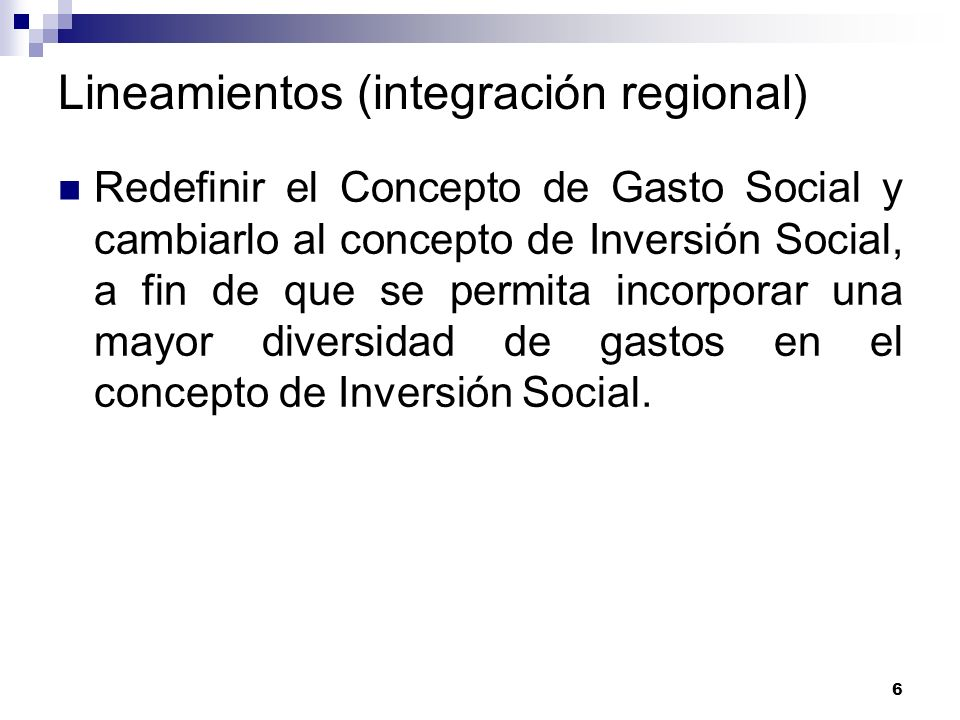 Lineamientos (integración regional)