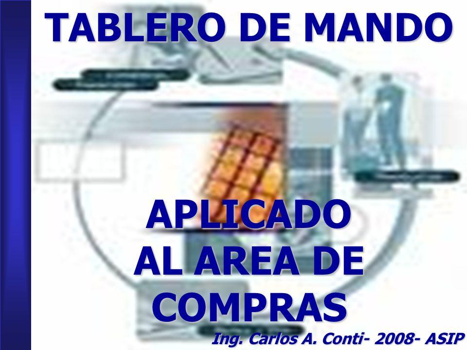 TABLERO DE MANDO APLICADO AL AREA DE COMPRAS