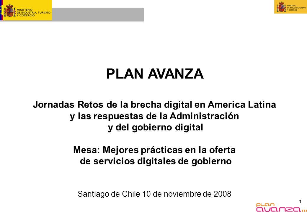 PLAN AVANZA Jornadas Retos de la brecha digital en America Latina y las respuestas de la Administración.