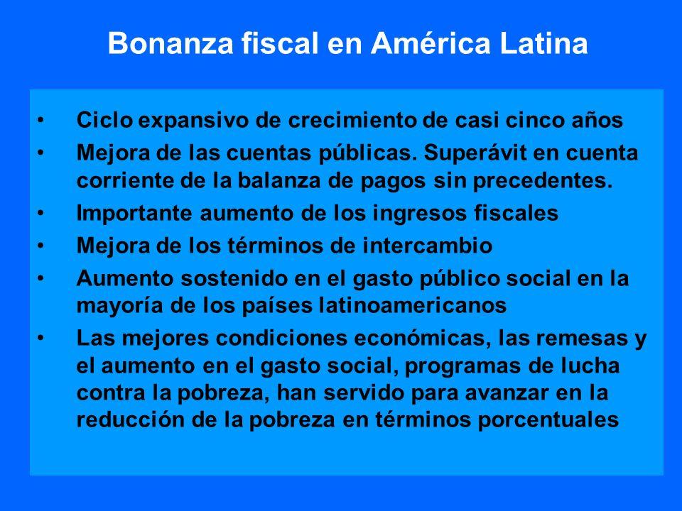 Bonanza fiscal en América Latina