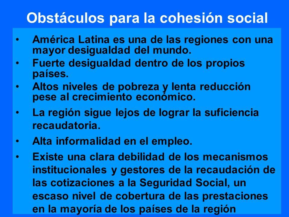 Obstáculos para la cohesión social