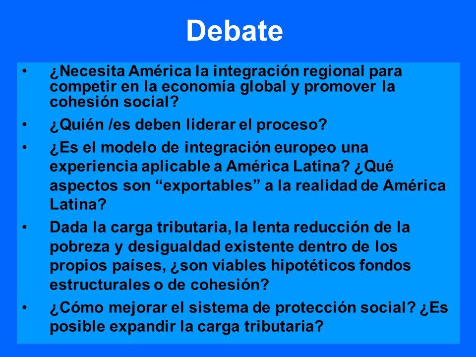 Debate ¿Necesita América la integración regional para competir en la economía global y promover la cohesión social