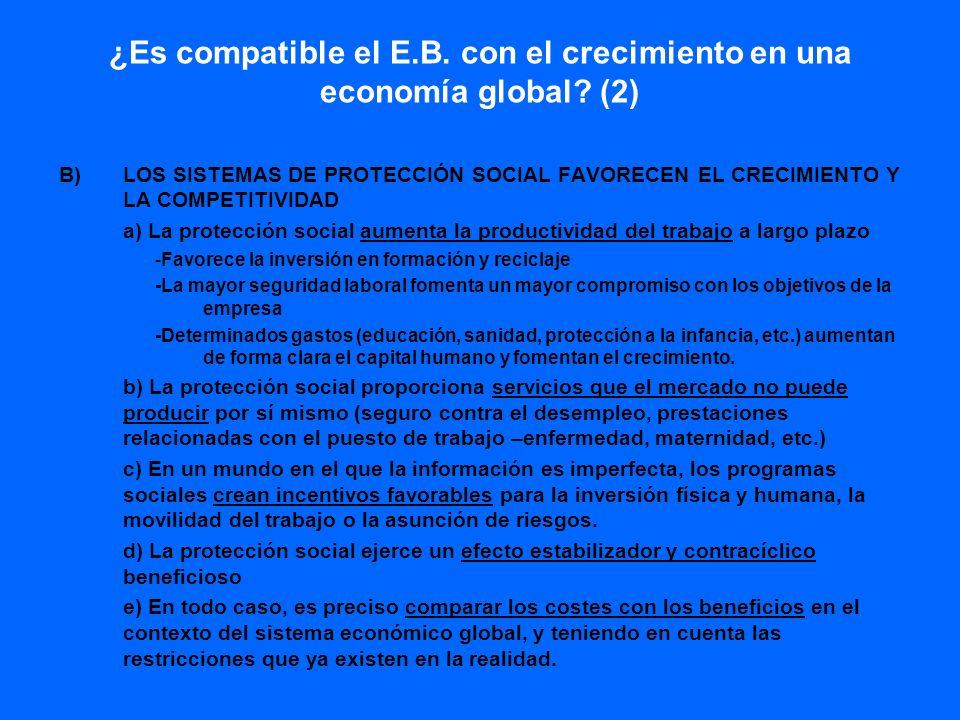 ¿Es compatible el E.B. con el crecimiento en una economía global (2)