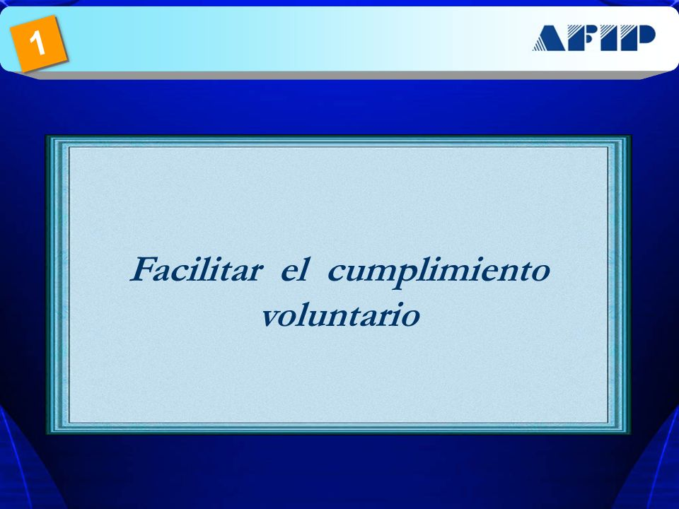 Facilitar el cumplimiento voluntario