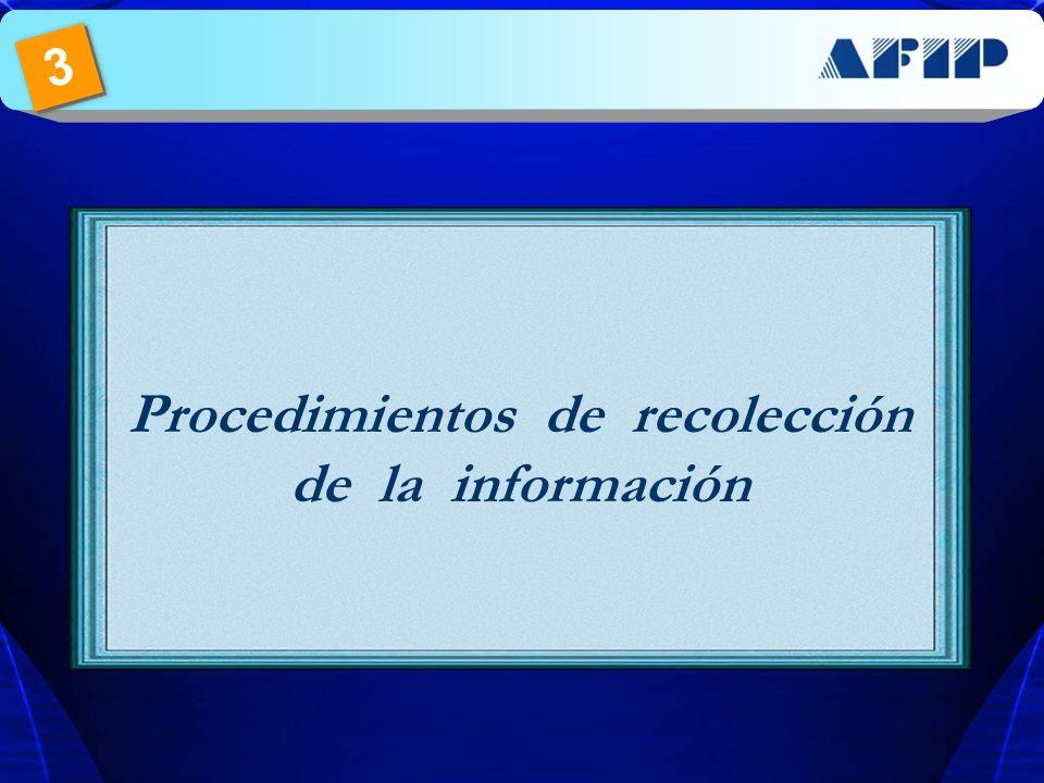 Procedimientos de recolección