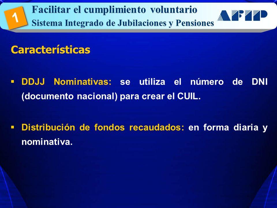 1 Facilitar el cumplimiento voluntario Características