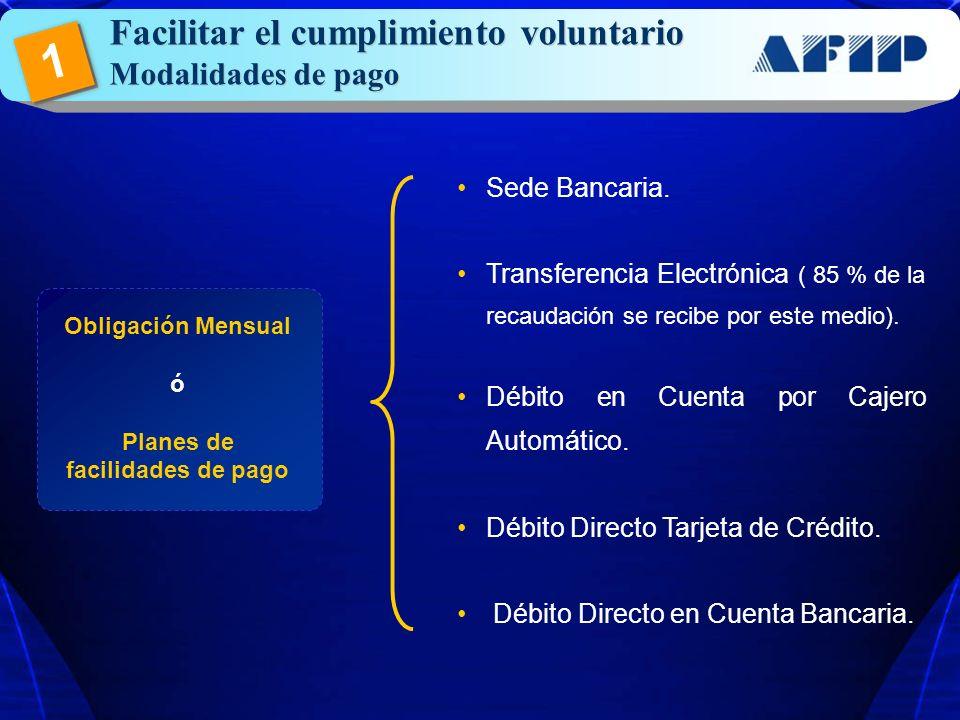 Planes de facilidades de pago
