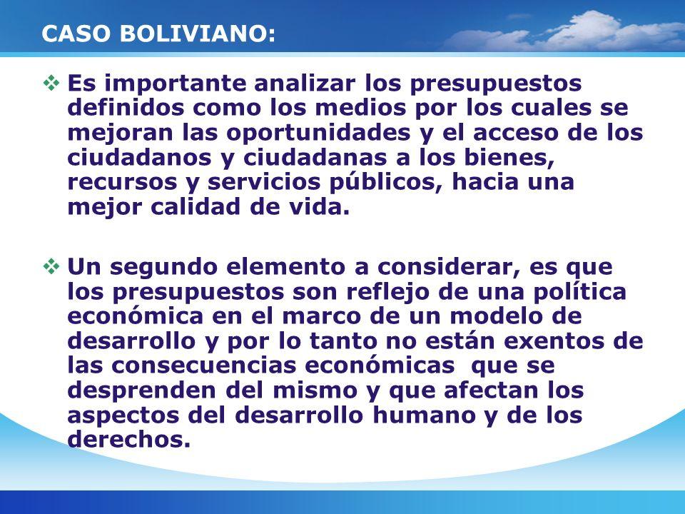 CASO BOLIVIANO: