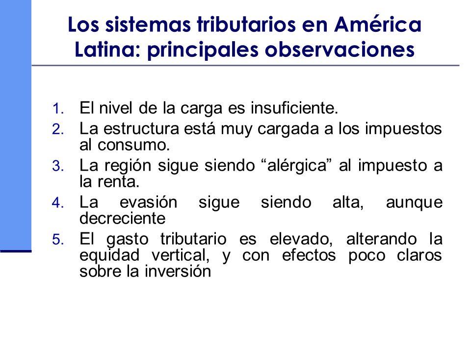 Los sistemas tributarios en América Latina: principales observaciones