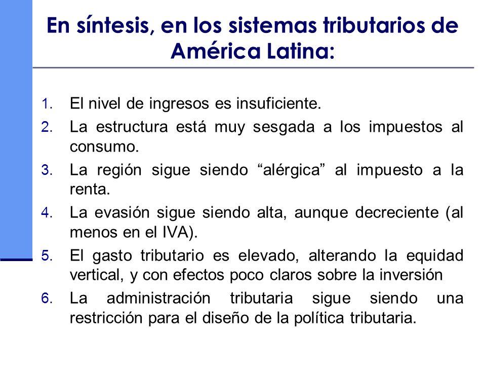 En síntesis, en los sistemas tributarios de América Latina: