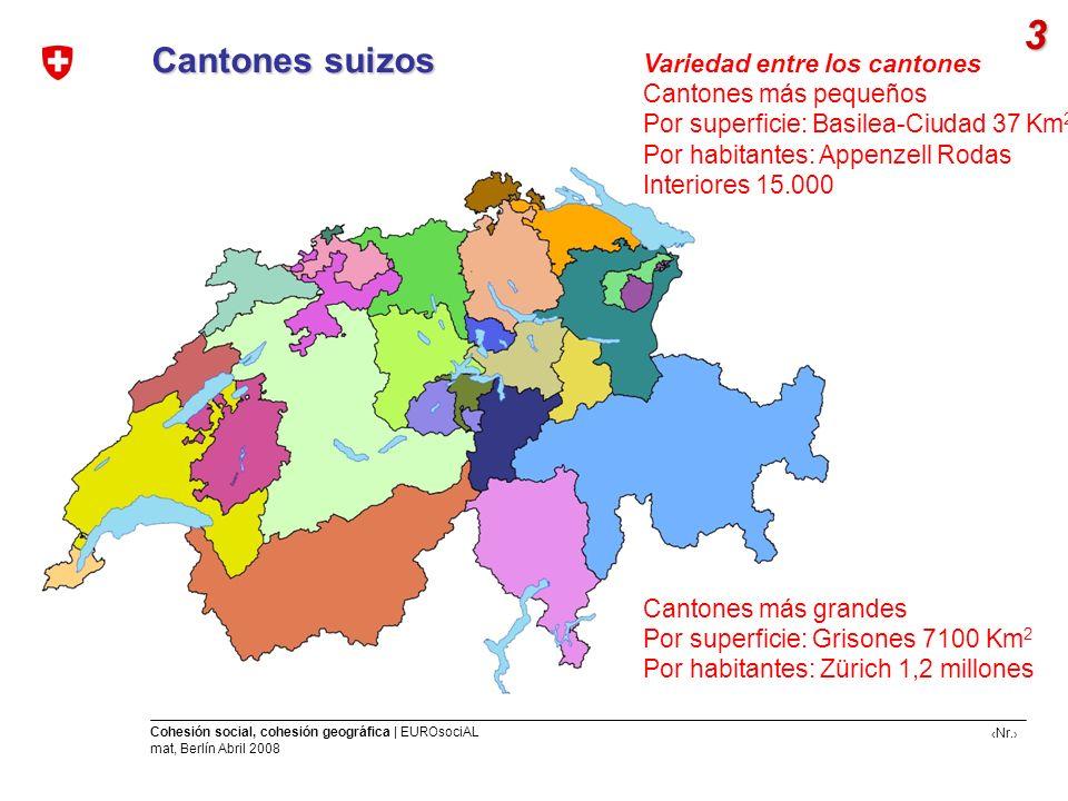 3 Cantones suizos Variedad entre los cantones Cantones más pequeños