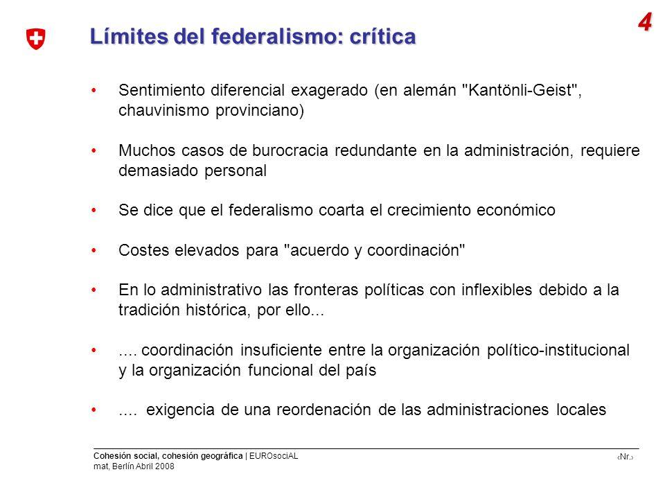 4 Límites del federalismo: crítica