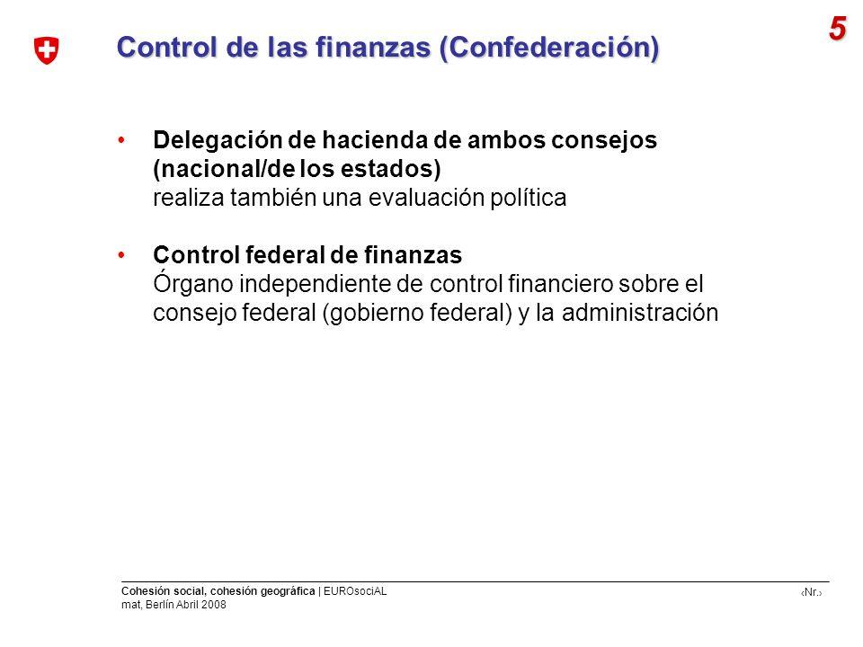 5 Control de las finanzas (Confederación)