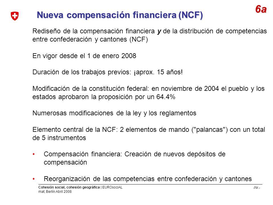 6a Nueva compensación financiera (NCF)