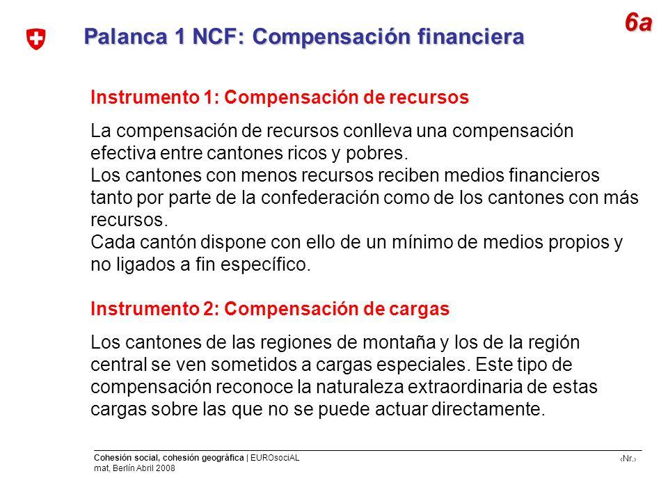 6a Palanca 1 NCF: Compensación financiera