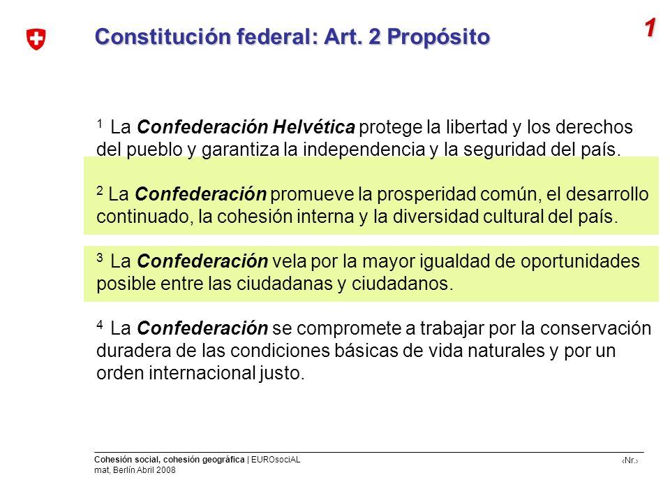 1 Constitución federal: Art. 2 Propósito