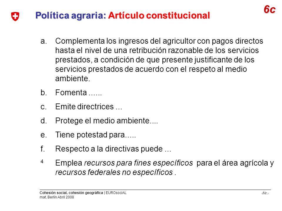 6c Política agraria: Artículo constitucional