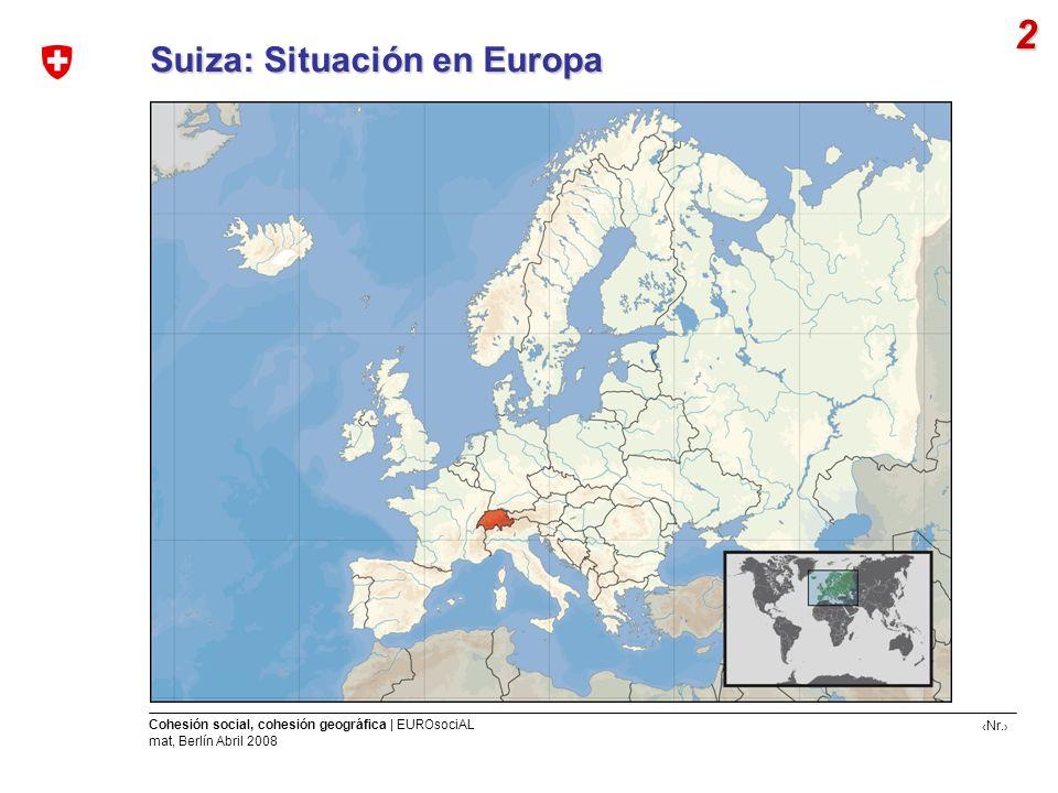 2 Suiza: Situación en Europa