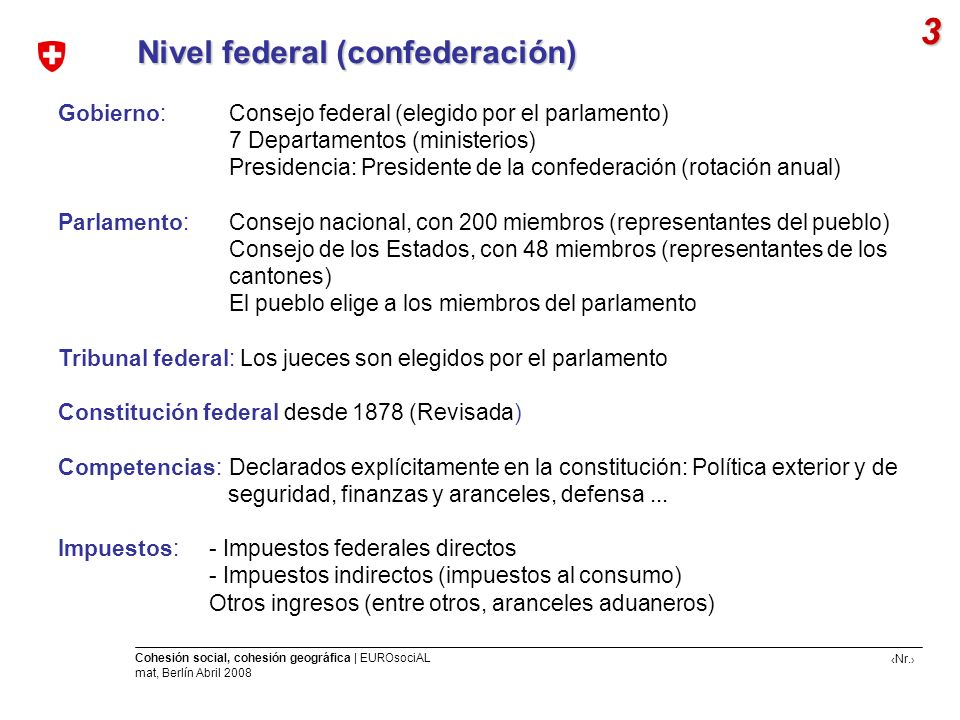 3 Nivel federal (confederación)