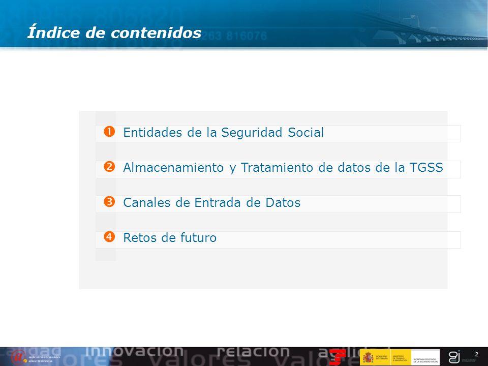 Índice de contenidos Entidades de la Seguridad Social
