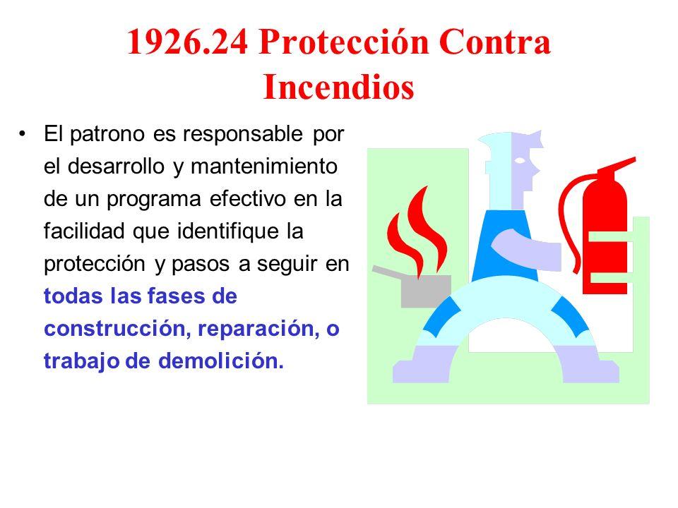 1926.24 Protección Contra Incendios