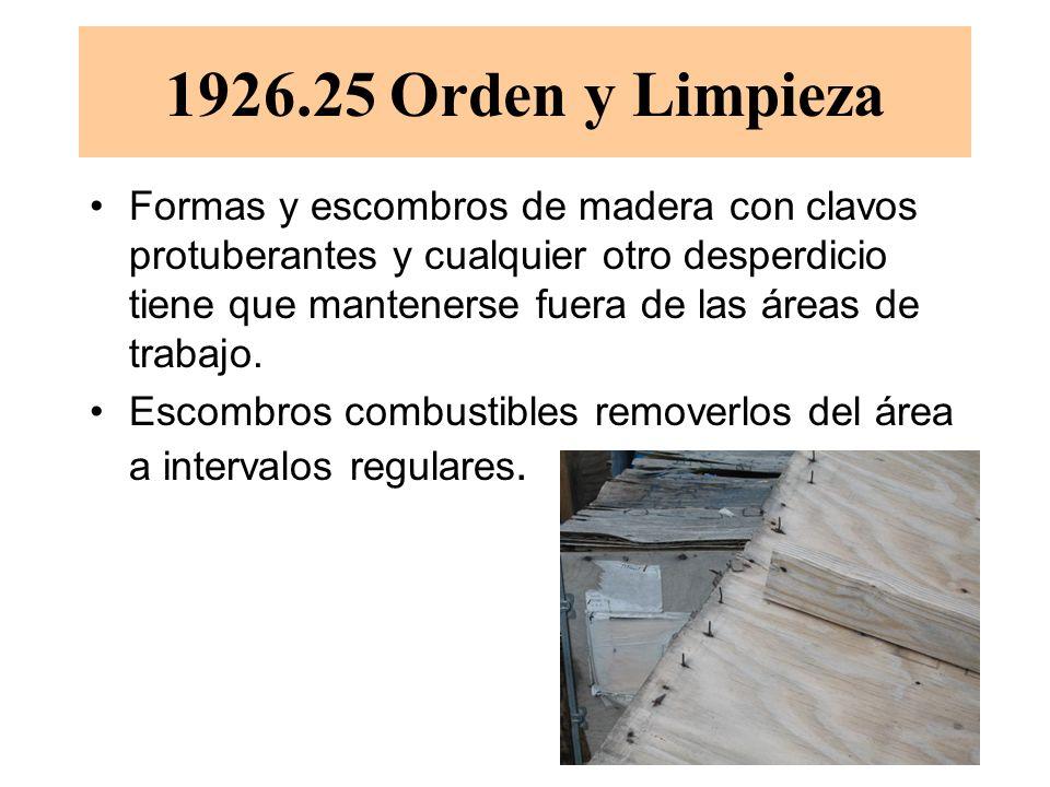 1926.25 Orden y Limpieza
