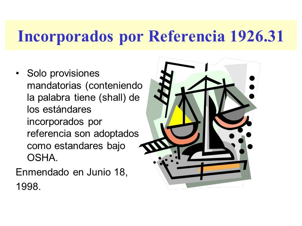 Incorporados por Referencia 1926.31