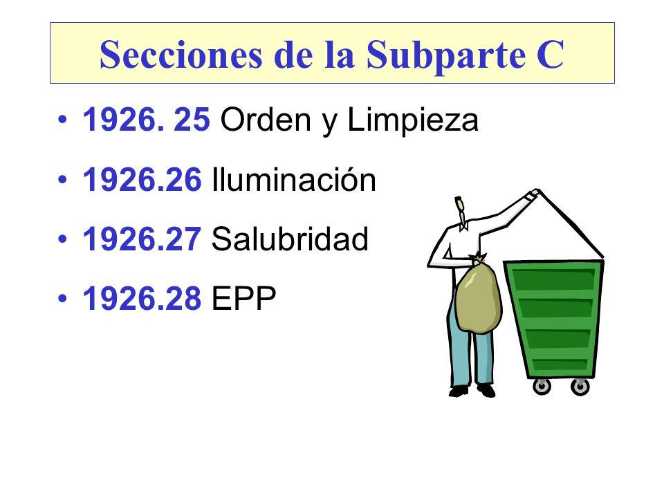 Secciones de la Subparte C