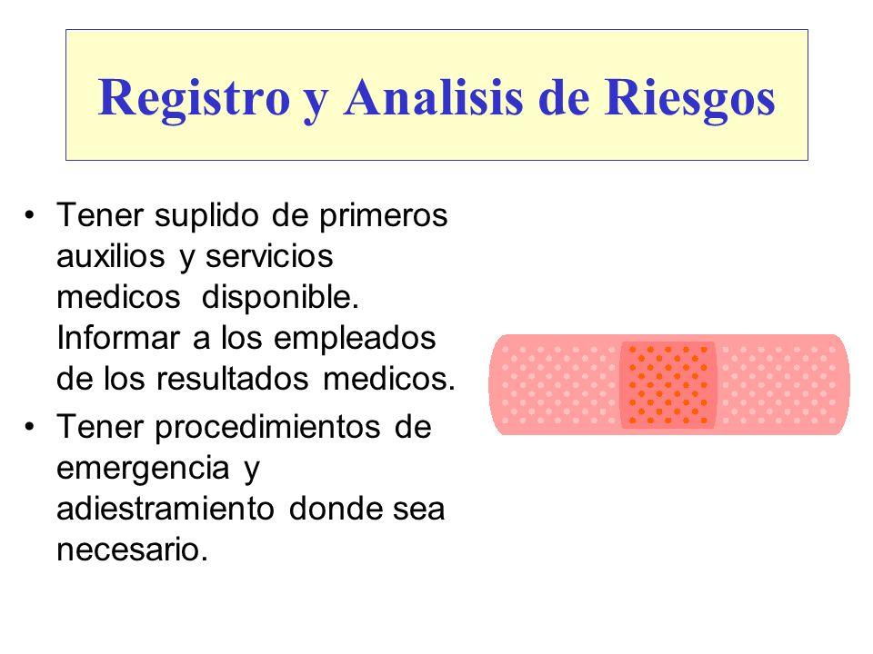 Registro y Analisis de Riesgos