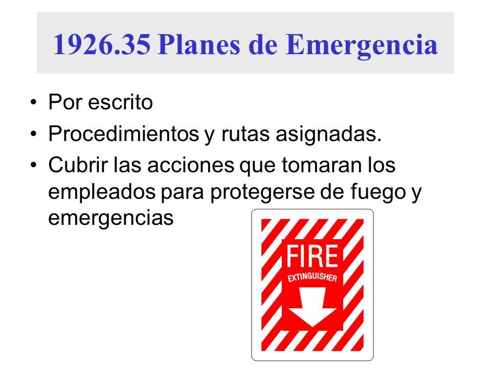 1926.35 Planes de Emergencia Por escrito