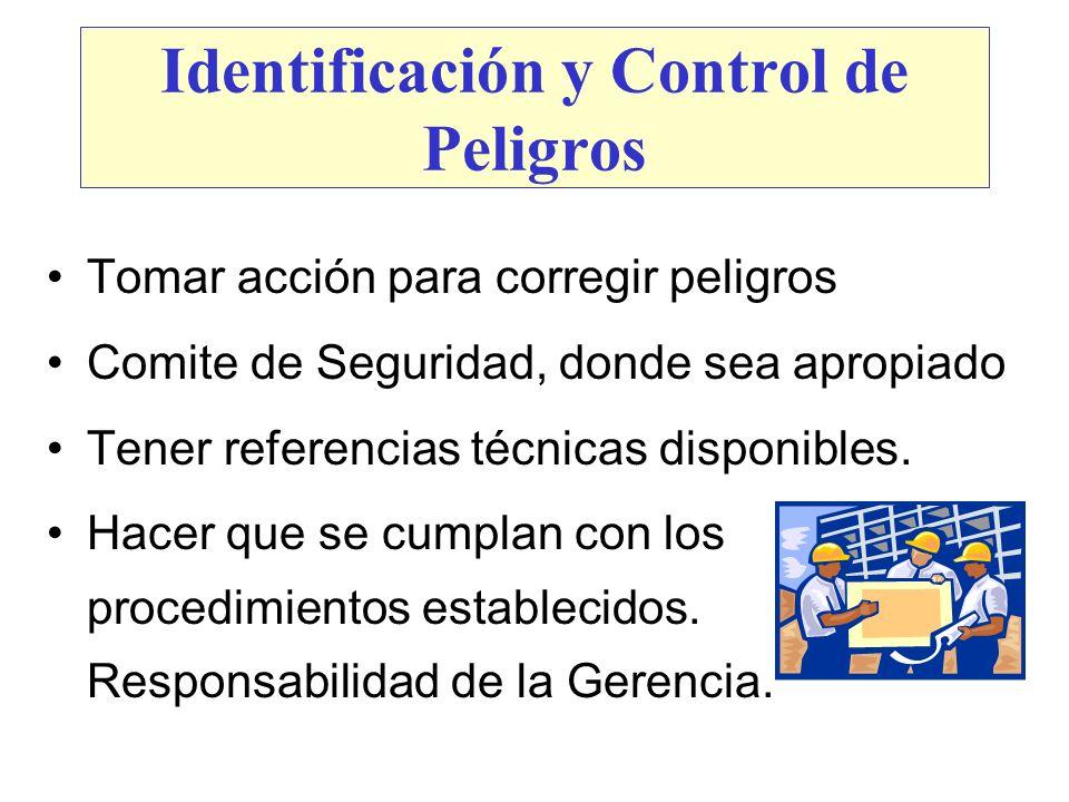 Identificación y Control de Peligros