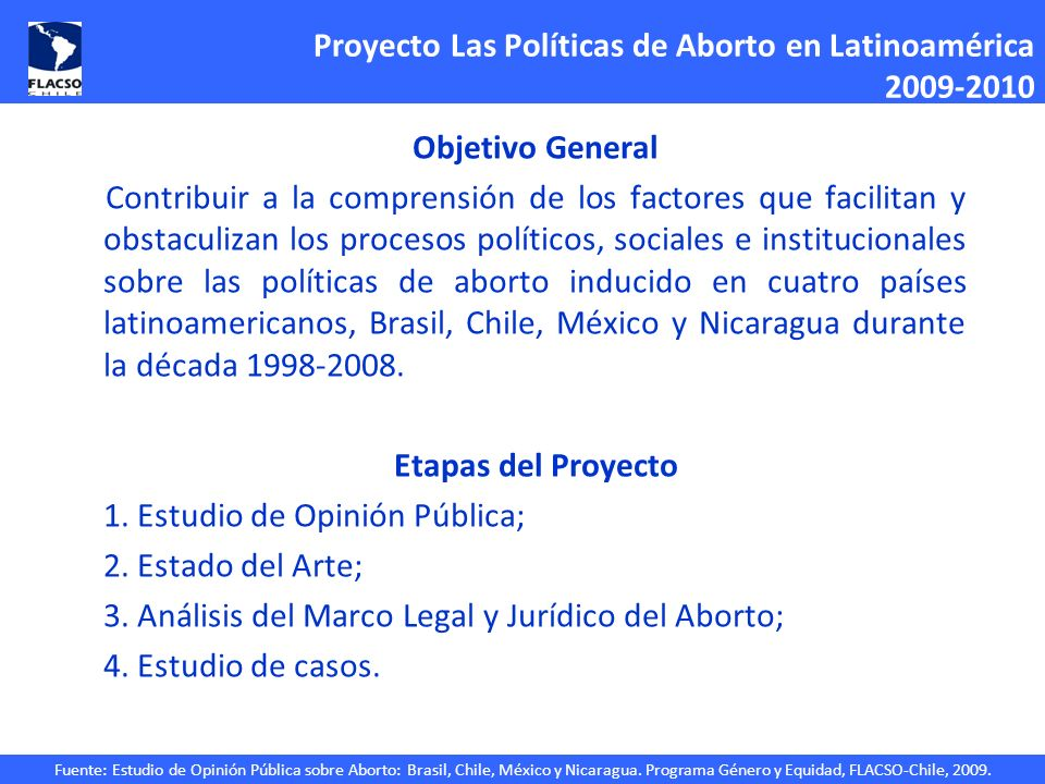 Proyecto Las Políticas de Aborto en Latinoamérica 2009-2010